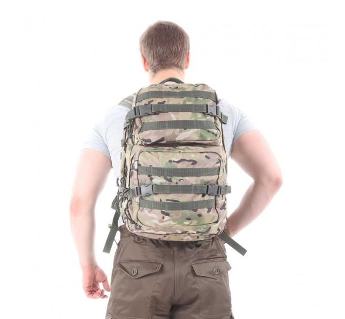 Рюкзак KE Tactical Assault 40л Polyamide 900 Den multicam со стропами олива
